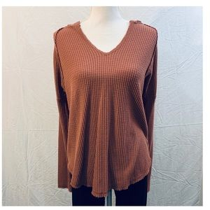 Wild Fable cinnamon brown waffle knit hoodie